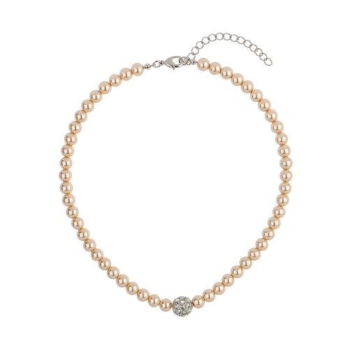 Mikey Cream Imitation Pearl & Crystal Ball Necklace - Product number 1356658