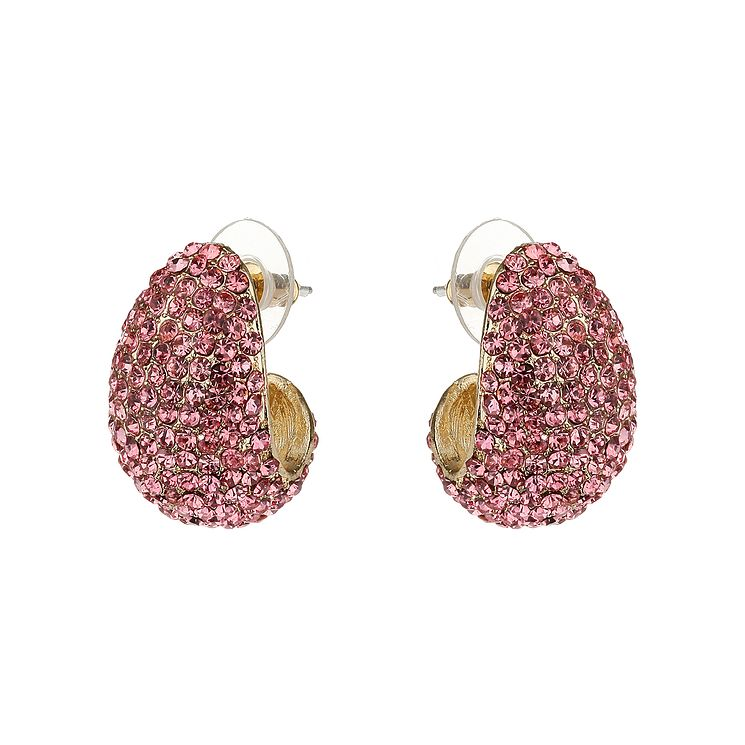 Mikey Pink Crystal Half Moon Earrings - Product number 1356747