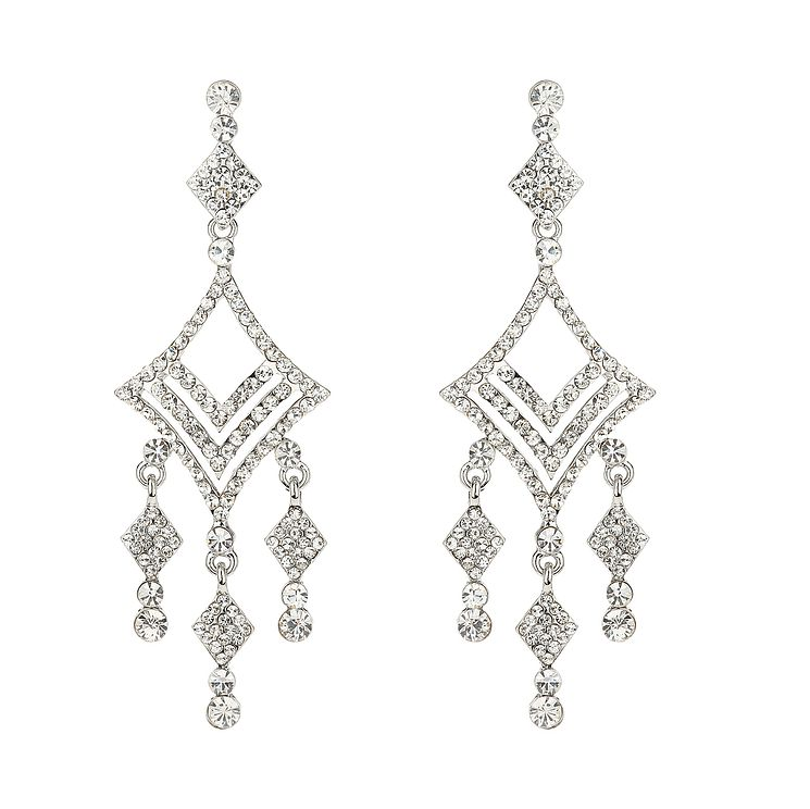 Mikey White Crystal Chandelier Earrings - Product number 1356836