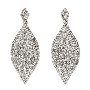 Mikey White Pave Crystal Diamond Shape Drop Earrings - Product number 1356844