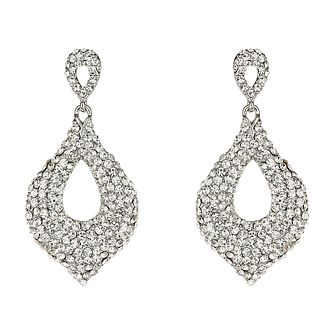 Mikey White Cut Out Crystal Drop Earrings - Product number 1356852