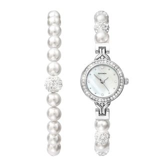 Sekonda Editions Crystal & Pearl Bracelet & Bracelet Watch - Product number 1359126