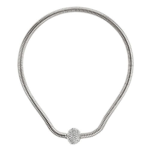Mikey White Rope Crystal Ball Magnetic Necklace - Product number 1359533