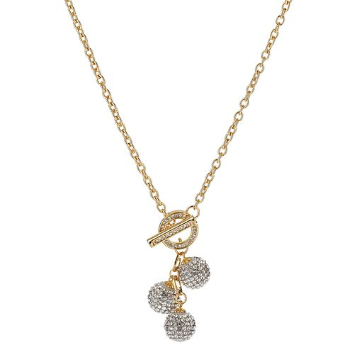 Mikey Yellow Crystal Ball Necklace - Product number 1359711