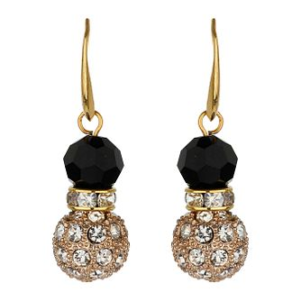 Mikey Yellow & Black Crystal Drop Earrings - Product number 1359851