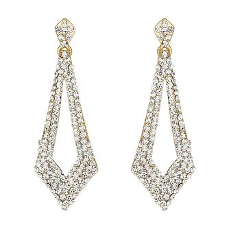 Mikey Yellow Diamond Cut Crystal Drop Earrings - Product number 1360035