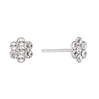 Sterling Silver Children's Crystal Flower Stud Earrings - Product number 1360183
