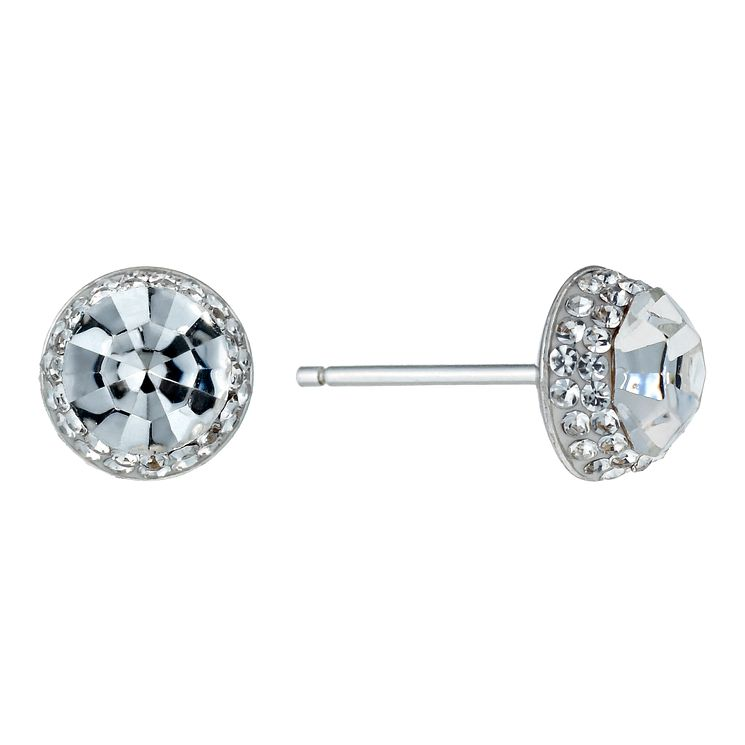 Silver Crystal Stud Earrings - Product number 1362399