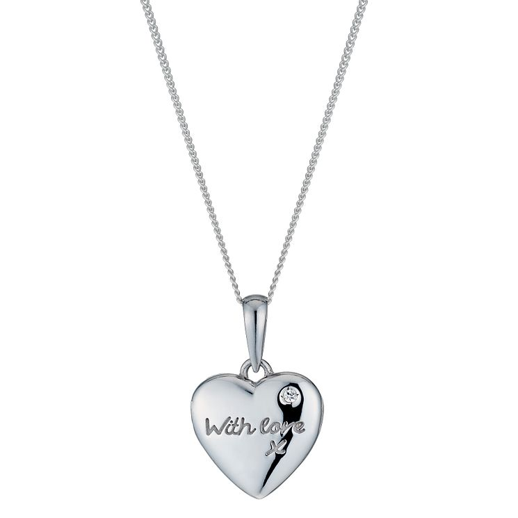 Lockets necklaces pendants hmuel silver small with love locket product number 1362607 aloadofball Images
