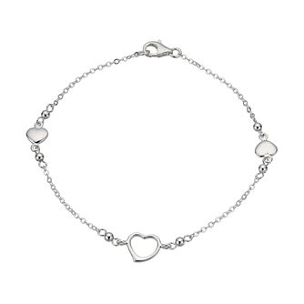 Sterling Silver Triple Heart Bracelet - Product number 1364294