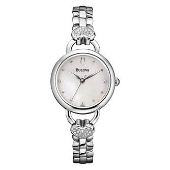 Bulova Ladies' Crystal Watch, Pendant & Stud Earrings Set - Product number 1371029
