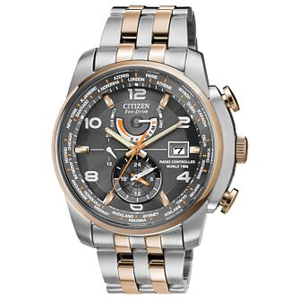 Citizen Eco-Drive Men's Chronograph Two Tone Bracelet Watch - Product number 1371517
