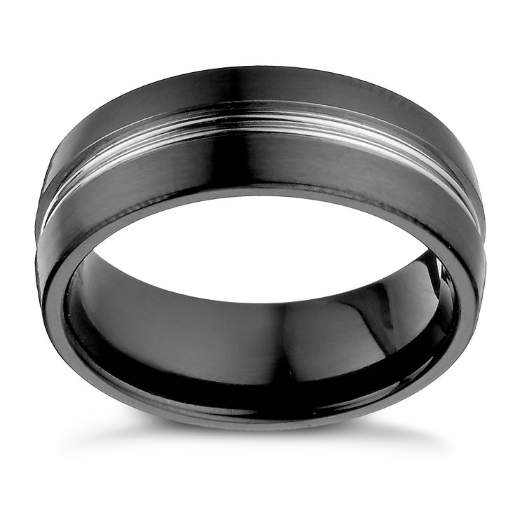 Titanium & black titanium ring - Product number 1373927