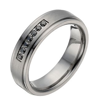 Titanium treated black diamond ring - Product number 1374338