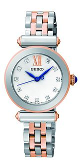 Seiko Ladies' Stone Set Two Tone Bracelet Watch - Product number 1377701