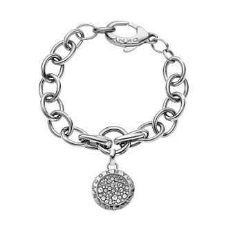 DKNY Stainless Steel Crystal Disc Bracelet - Product number 1388347
