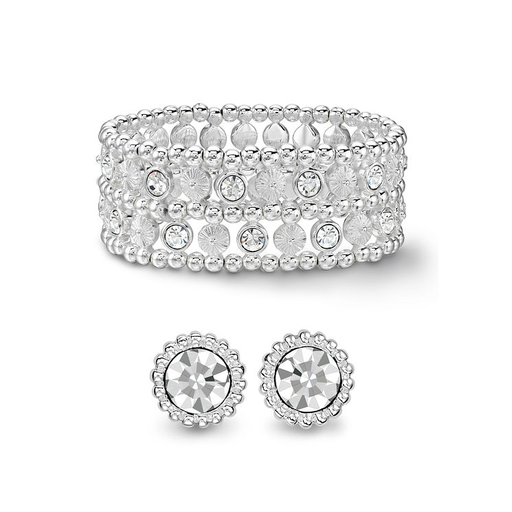 Crystal Earrings & Bracelet Set - Product number 1388932