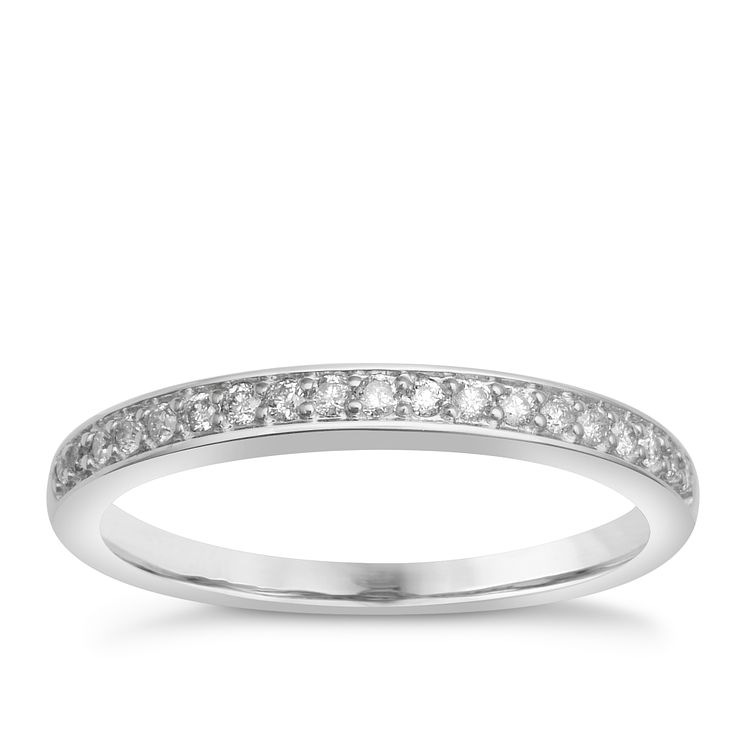 9ct White Gold Diamond Perfect Fit Eternity Ring - Product number 1391542
