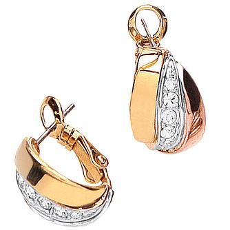 Buckley London Crystal Set Russian Huggie Earrings - Product number 1395513