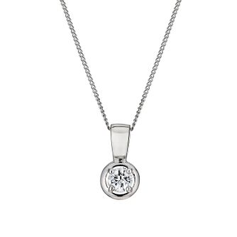 Leo Diamond 18ct white gold 0.20ct I-SI2 pendant - Product number 1398512