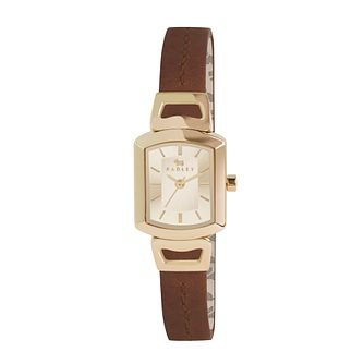 Radley Ladies' Gold-Plated Brown Leather Strap Watch - Product number 1402323
