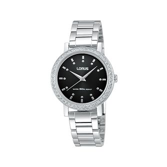 Lorus Ladies' Stone Set Stainless Steel Bracelet Watch - Product number 1409093