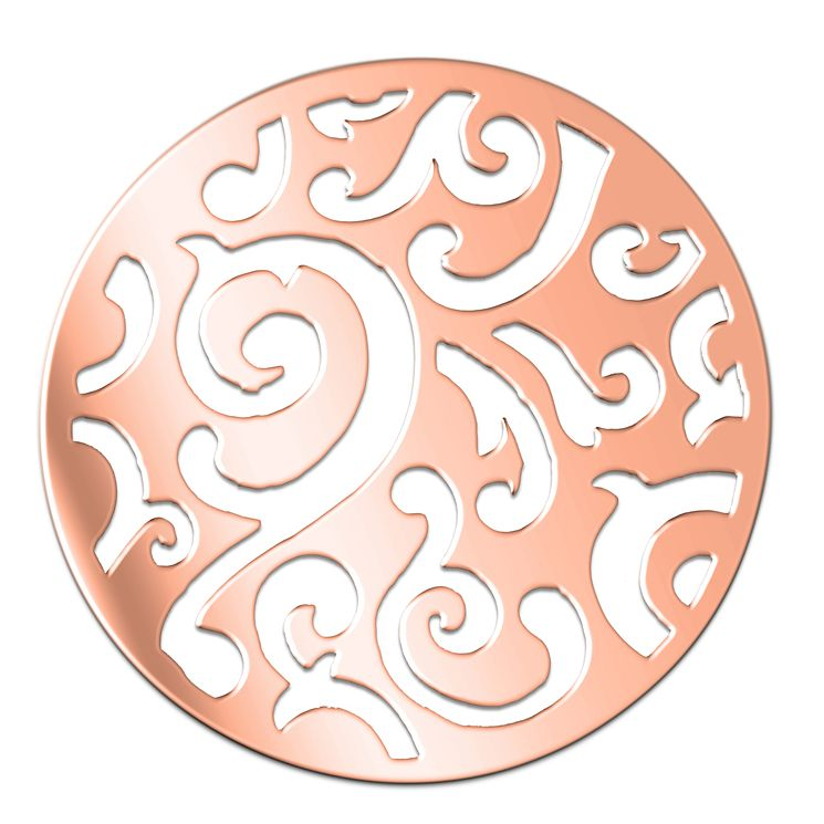 Lucet Mundi rose gold-plated scrolled coin - large - Product number 1409727