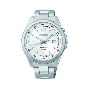 Seiko Men's Silver Dial Stainless Steel Bracelet Watch - Product number 1411063