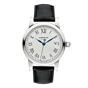 Montblanc Star men's black leather strap watch - Product number 1413384