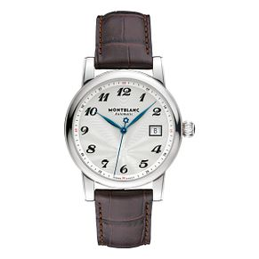 Montblanc Star men's brown leather strap watch - Product number 1413430