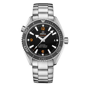 Omega Seamaster Men's Black and Orange Bracelet Watch - Product number 1413465