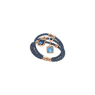 Folli Follie Elements rose gold-plated blue bracelet - Product number 1413627