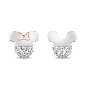Mickey Mouse & Minnie Mouse Diamond Mismatch Stud Earrings - Product number 1414380