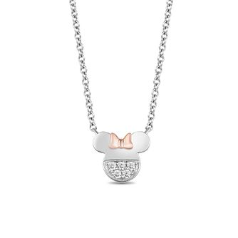 Mickey Mouse & Minnie Mouse Diamond Necklace - Product number 1414402
