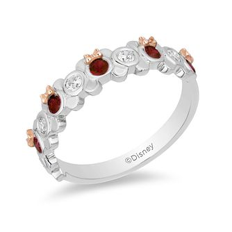Mickey Mouse & Minnie Mouse Diamond & Garnet Ring - Product number 1414739