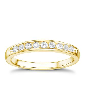 Tolkowsky 18ct yellow gold 0.25ct I-I1 diamond ring - Product number 1416987