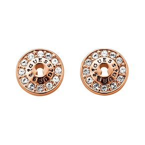 Guess All Locked Up Rose Gold-Plated Padlock Stud Earrings - Product number 1417347