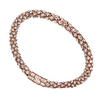 Guess Glamazon Rose Gold-Plated Crystal Bangle - Product number 1417436