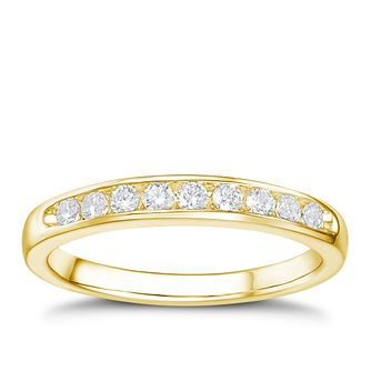 Tolkowsky 18ct yellow gold 1/4ct HI-SI2 diamond ring - Product number 1417975