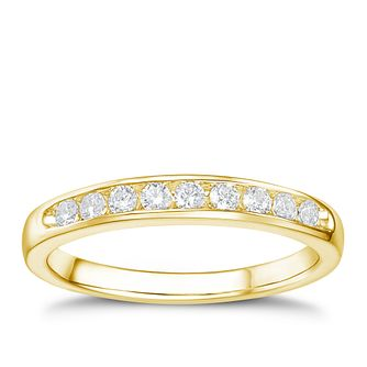 Tolkowsky 18ct yellow gold 1/4ct HI-VS2 diamond ring - Product number 1419498