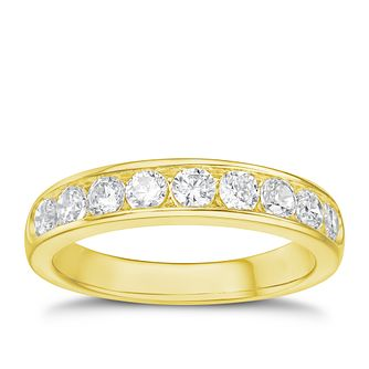 Tolkowsky 18ct yellow gold 0.75ct HI-SI2 diamond ring - Product number 1421212