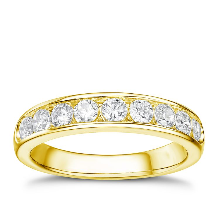 Tolkowsky 18ct yellow gold 0.75ct HI-VS2 diamond ring - Product number 1421611