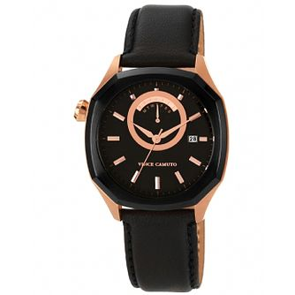Vince Camuto Ladies' Rose Gold Tone Leather Strap Watch - Product number 1426966