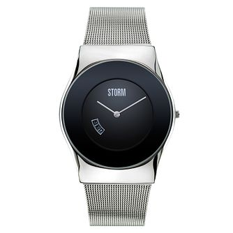 Storm Men's Black Dial Mesh Stainless Steel Strap Watch - Product number 1427466