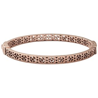 Fossil Rose Gold-Plated Signature Bangle - Product number 1429884