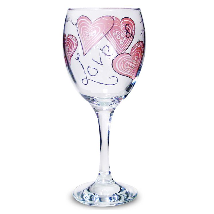 Personalised Love & Kisses Wine Glass - Product number 1434705