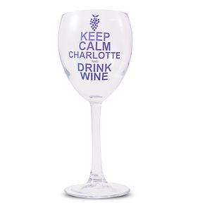 Personalised Keep Calm Drink Wine Glass - Product number 1434721
