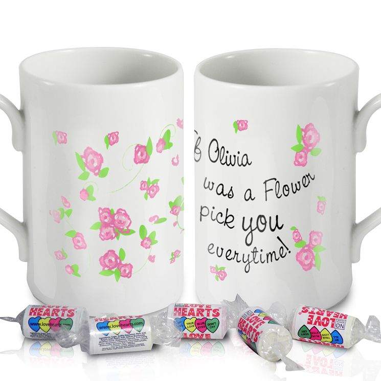 Personalised Floral I'd Pick You Mug - Product number 1434764