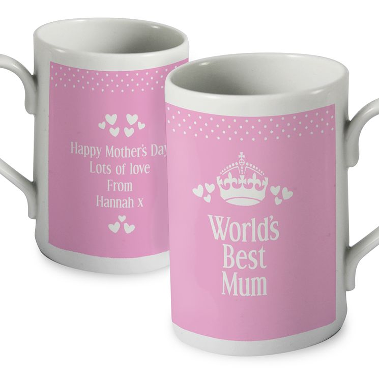 Personalised Pink World's Best Mug - Product number 1434802