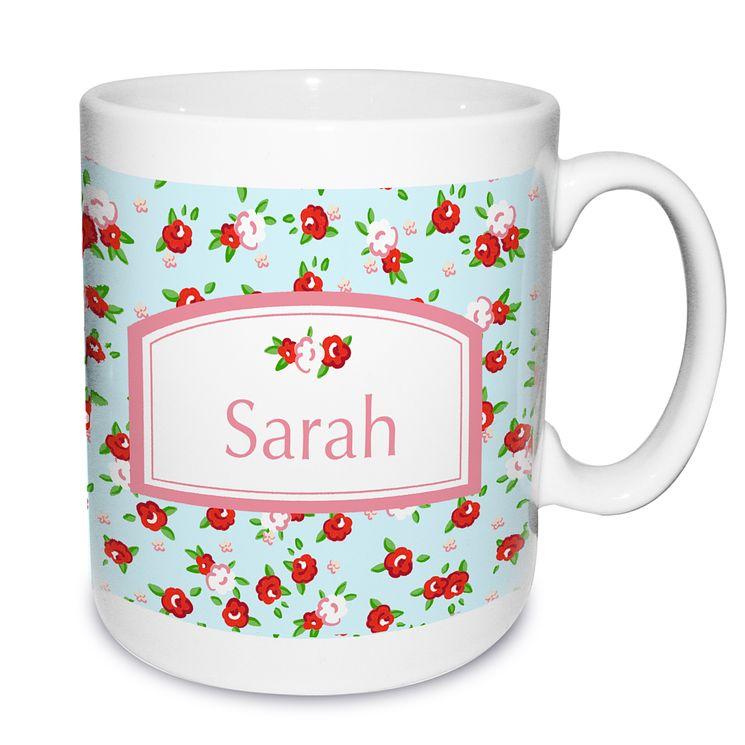 Personalised Vintage Floral Mug